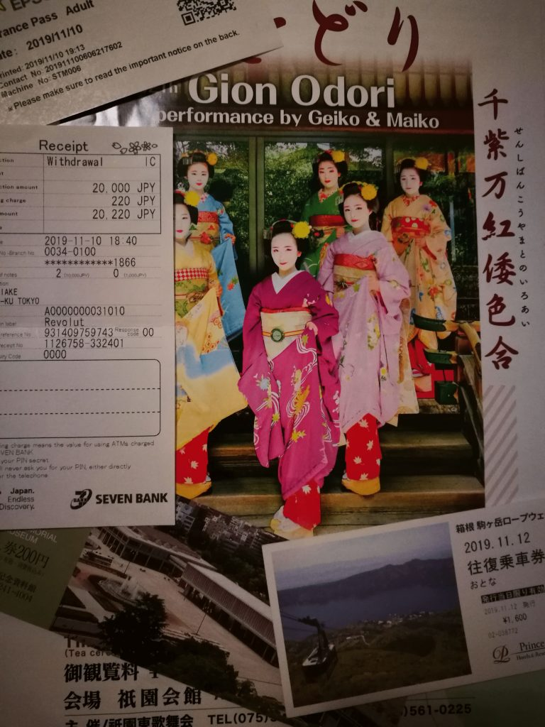 Enjoying an experience in Japan can cost you quite a bit. A dinner with geisha show can be up to 2000$, a tea ceremony can be around 100-200$ and a private tour can also be very pricey. Still, I fully recommend going to at least one experience. In the end, there's no use of a trip to Japan if you cannot enjoy and meet this outstanding culture. Make use of any budget planning techniques you know and put aside some money for this.