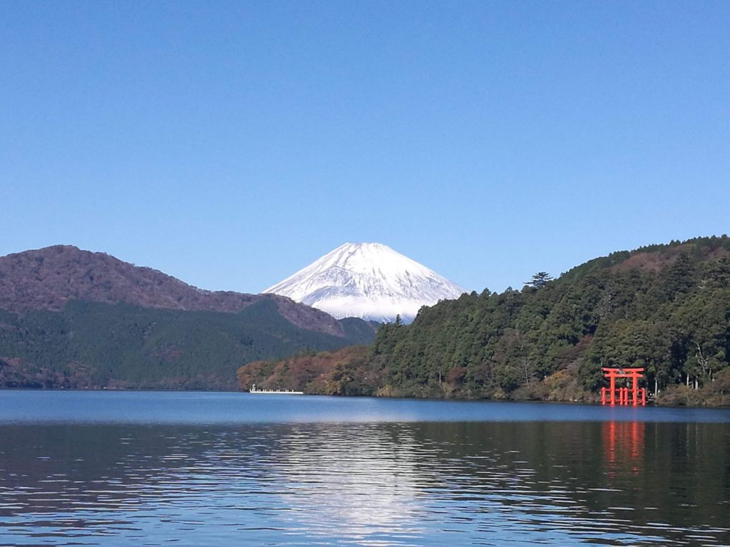 Clear view over Mount Fuji