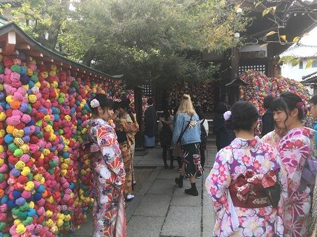 Young ladies wearing kimono in Kyoto, a way to enjoy the geisha culture in Japan
