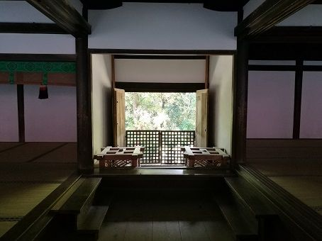 Tea room in a traditional Japanese house.