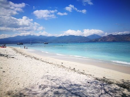 Beautiful beach in Gili Air, Indonesia
