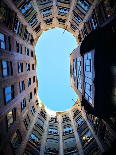 Casa Mila, a Gaudi masterpiece, Barcelona, Spain