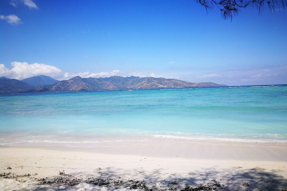 Gorgeous beach in Gili Air, Indonesia