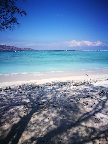 Beautiful beach on the Gili Islands, Indonesia