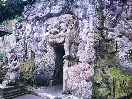 Goa Gajah (Elephant cave) temple in Bali, Indonesia