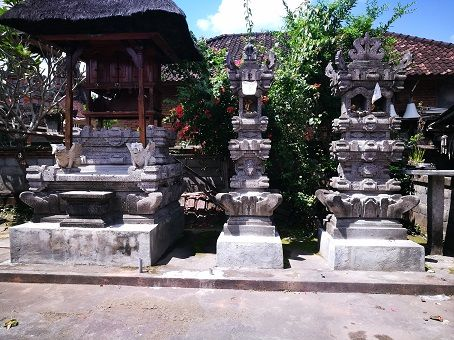 House temples in a traditional Balinese home