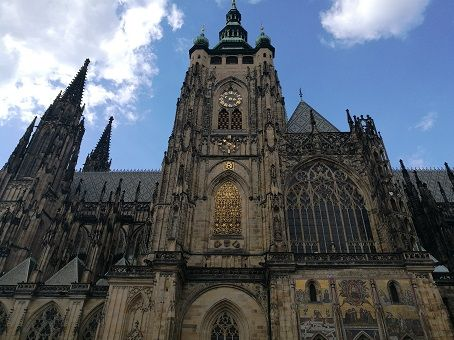 The old cathedral in Prague