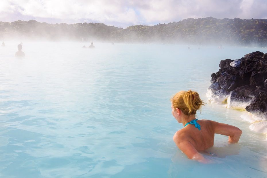 The Blue Lagoon - well known hot spring in Iceland