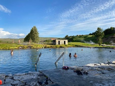 Secret Lagoon - quiet hot spring in Iceland