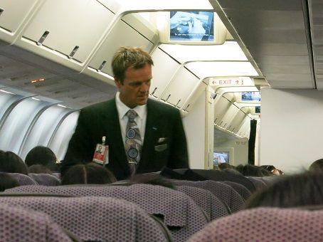 Qantas flight attendant