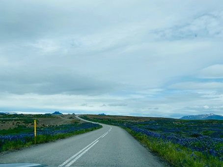 Cloudy view from our Iceland road trip
