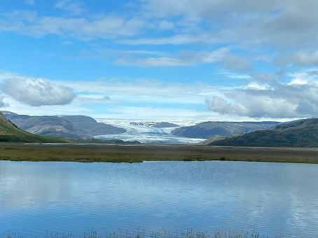 Glacier view from the Iceland Ring Road