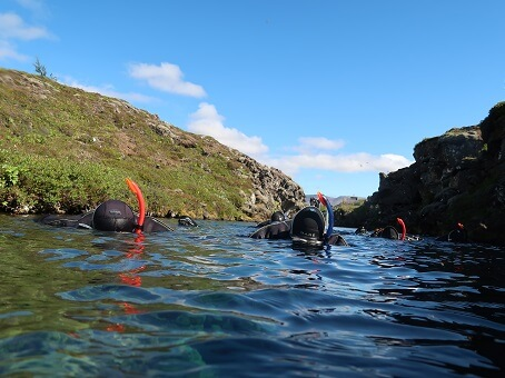 Silfra snorkeling review - view above water level